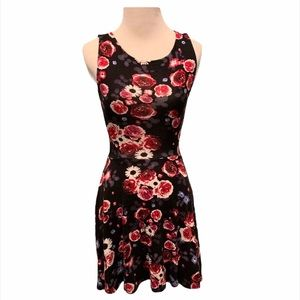 H&M Sunflower Rose Flower Fit and Flare Dress XS